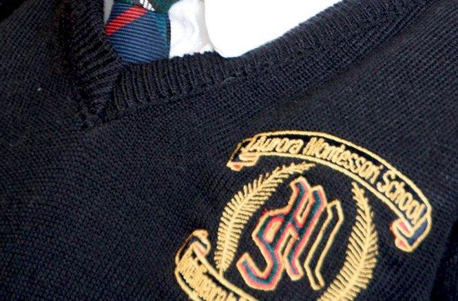 AMS crest on shirt
