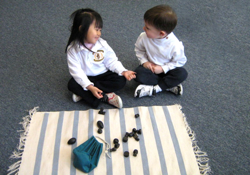 two toddler students