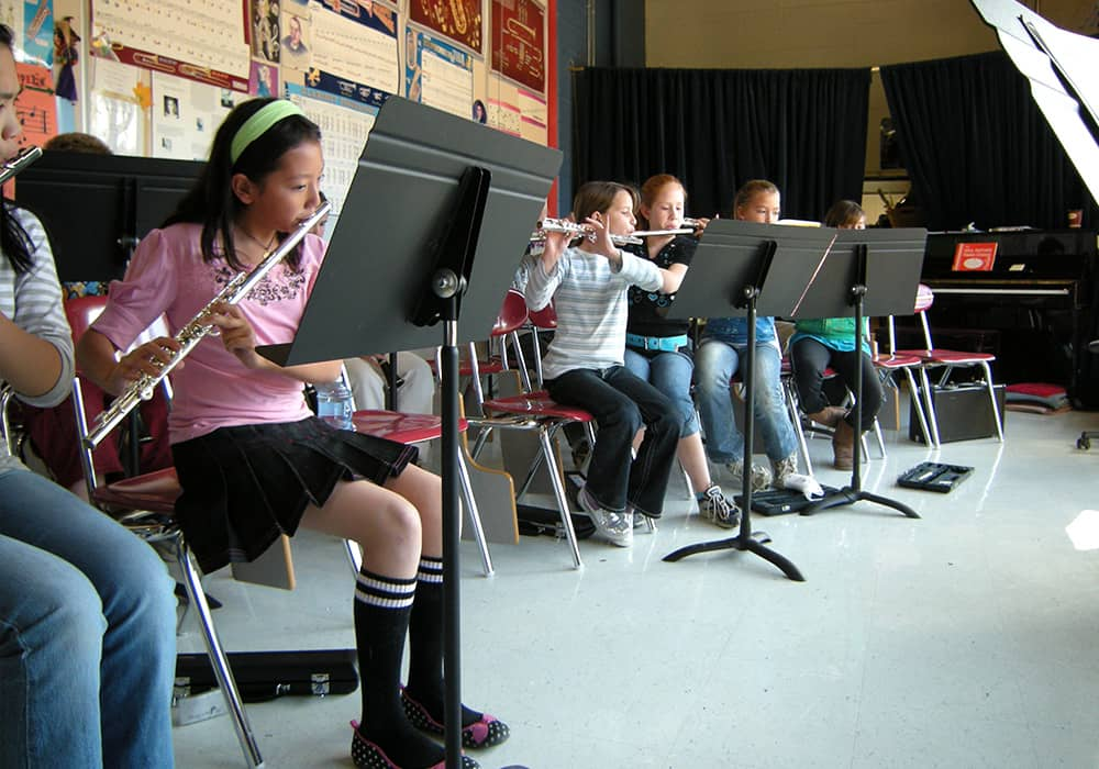 More students playing music